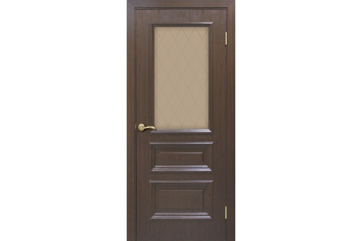 Фото Дверь ПВХ Омис Сан Марко 1.2 СС+КР стекло бронза с официального сайта OSKAR™
