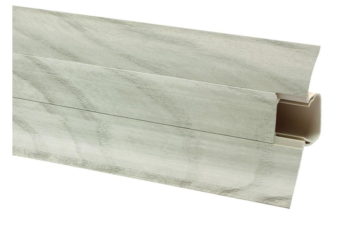 Фото Плинтус ОМиС Comfort 54 мм Арт.512 вяз серебрянный с официального сайта OSKAR™