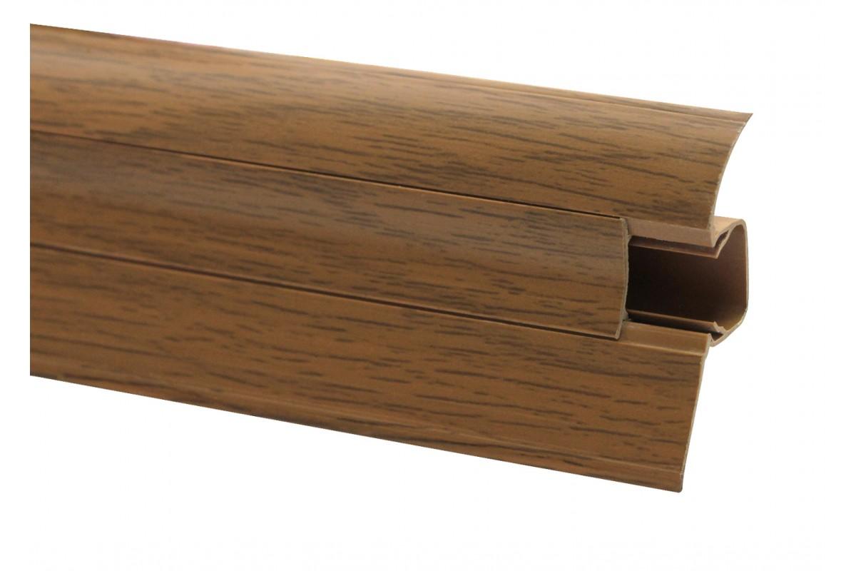Фото Плинтус ОМиС Comfort 54 мм Арт.529 дуб янтарный с официального сайта OSKAR™