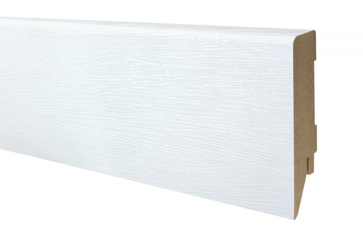 Фото Плинтус ОМиС МДФ белый структурный 100х19 мм с официального сайта OSKAR™