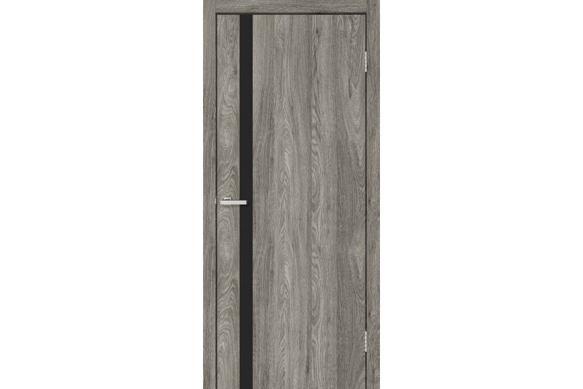 """Фото Дверь """"МДФ Омис"""" Сити (черное зеркало) с официального сайта OSKAR™"""