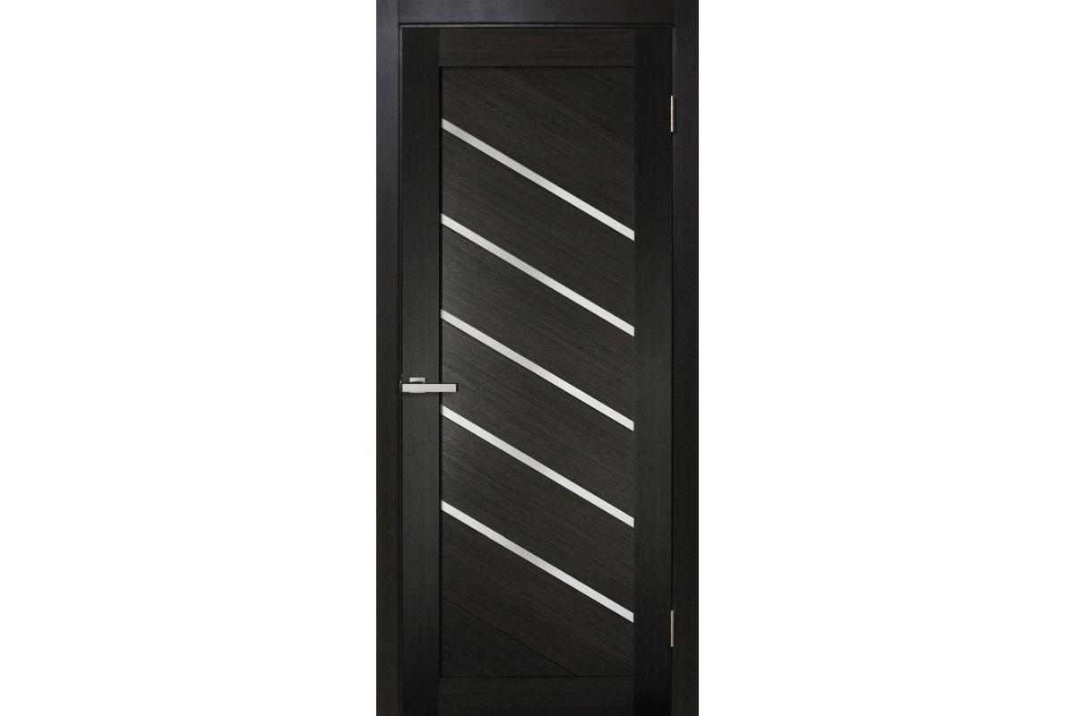 Фото Дверь ПВХ Омис Диана ПВХ ЧС с черным стеклом  с официального сайта OSKAR™