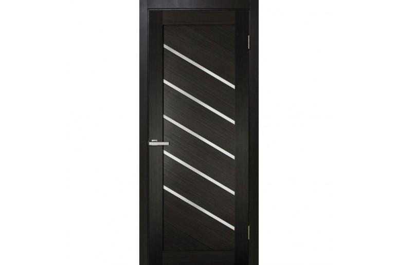 Дверь ПВХ Омис Диана ПВХ ЧС с черным стеклом