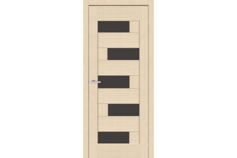 Дверь ПВХ Омис Домино ПВХ ПО с черным стеклом