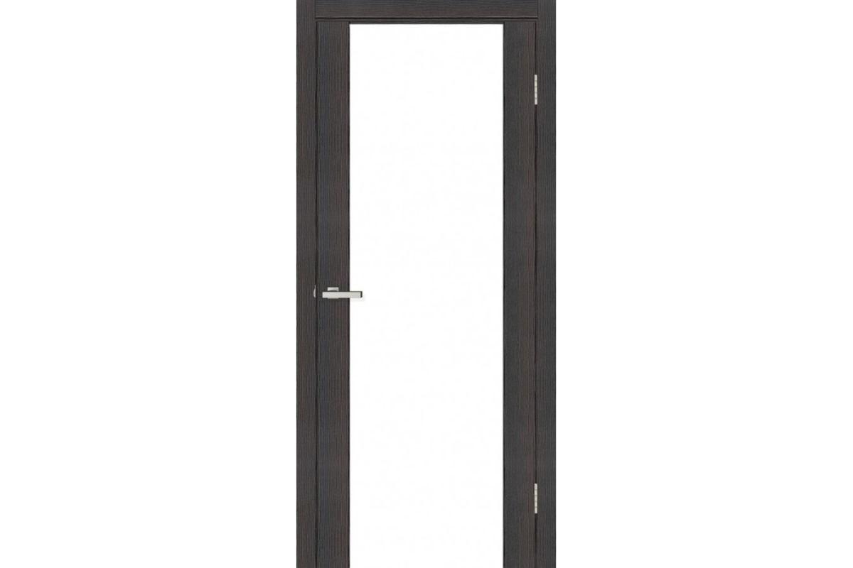 Фото Дверь Омис Cortex gloss ПО триплекс черный с официального сайта OSKAR™
